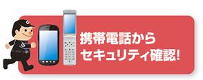 携帯電話からセキュリティ確認